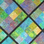 Quilt- batik squares on point