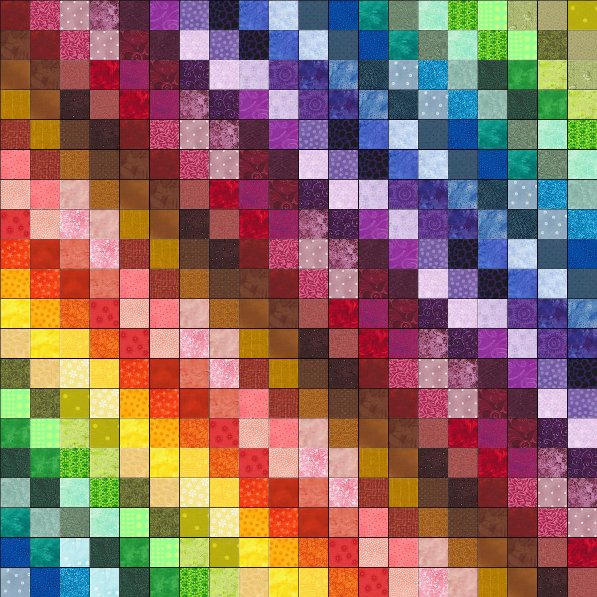 Scrap quilt rainbow