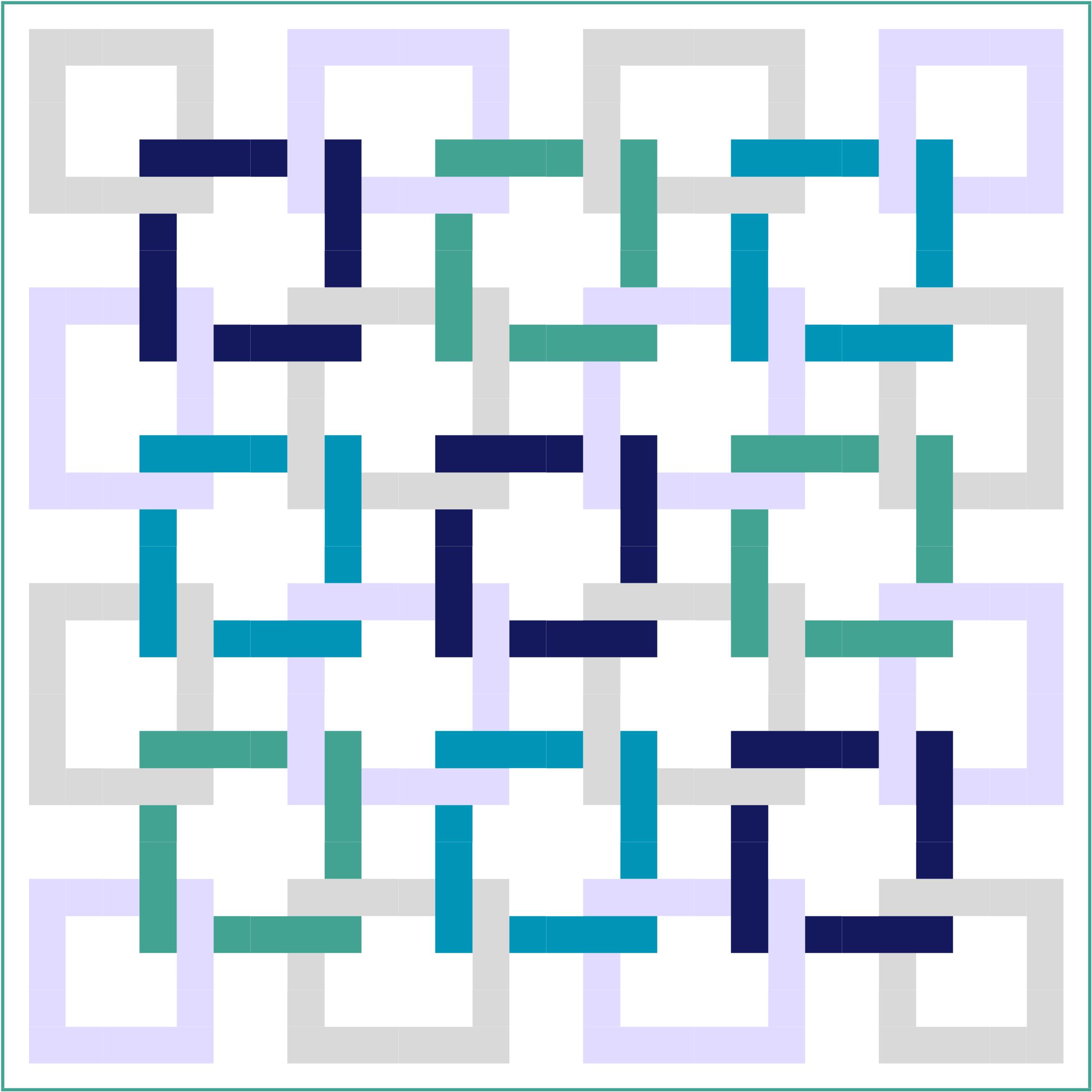 Trending Blue- Squares